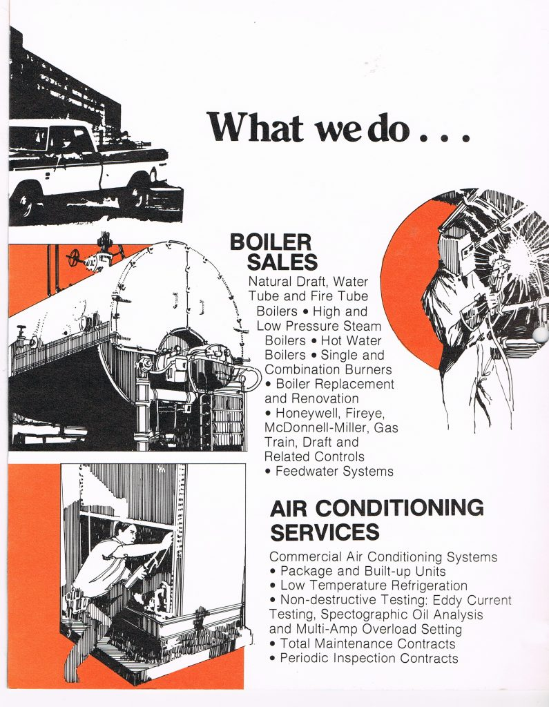 Boiler services is added with the purchase of ACME Boiler.