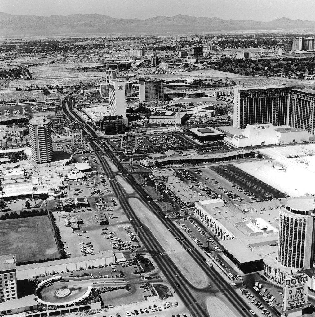 View of Las Vegas Strip in 1978