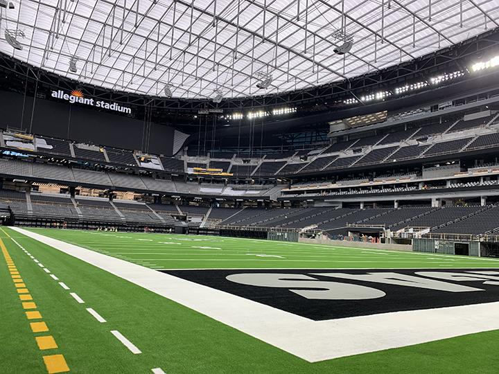 Raiders end zone at Allegiant Stadium